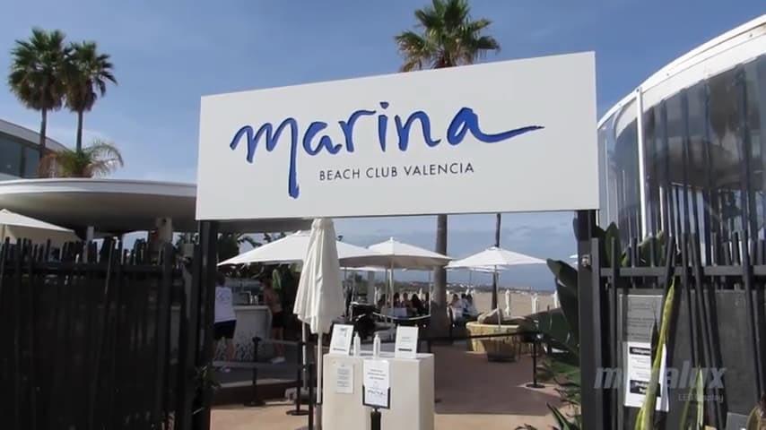 pantalla led marina beach valencia