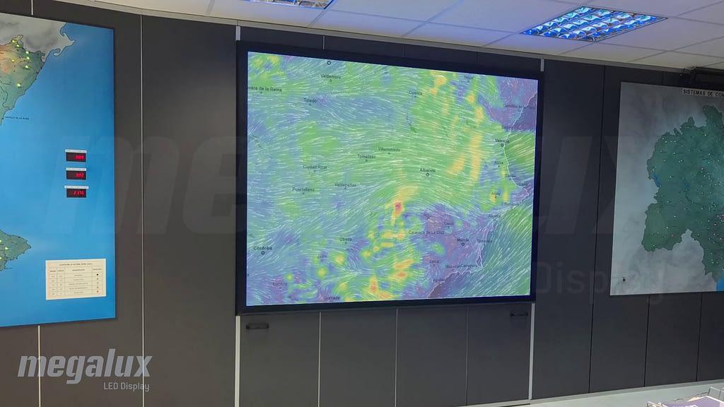 La Confederación Hidrográfica del Júcar elige una pantalla LED Megalux para su sala de operaciones