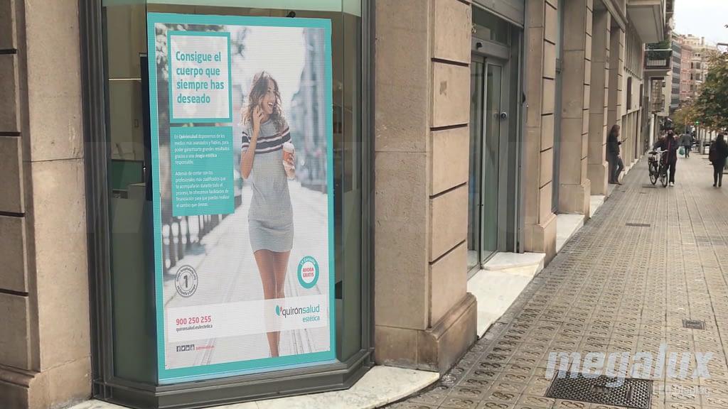 El Grupo Quirón elige a Megalux, primera pantalla LED en el Hospital El Pilar de Barcelona