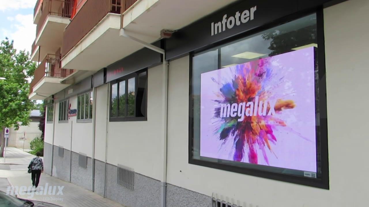 Infoter Teruel elige a Megalux para su pantalla Pantalla LED publicitaria